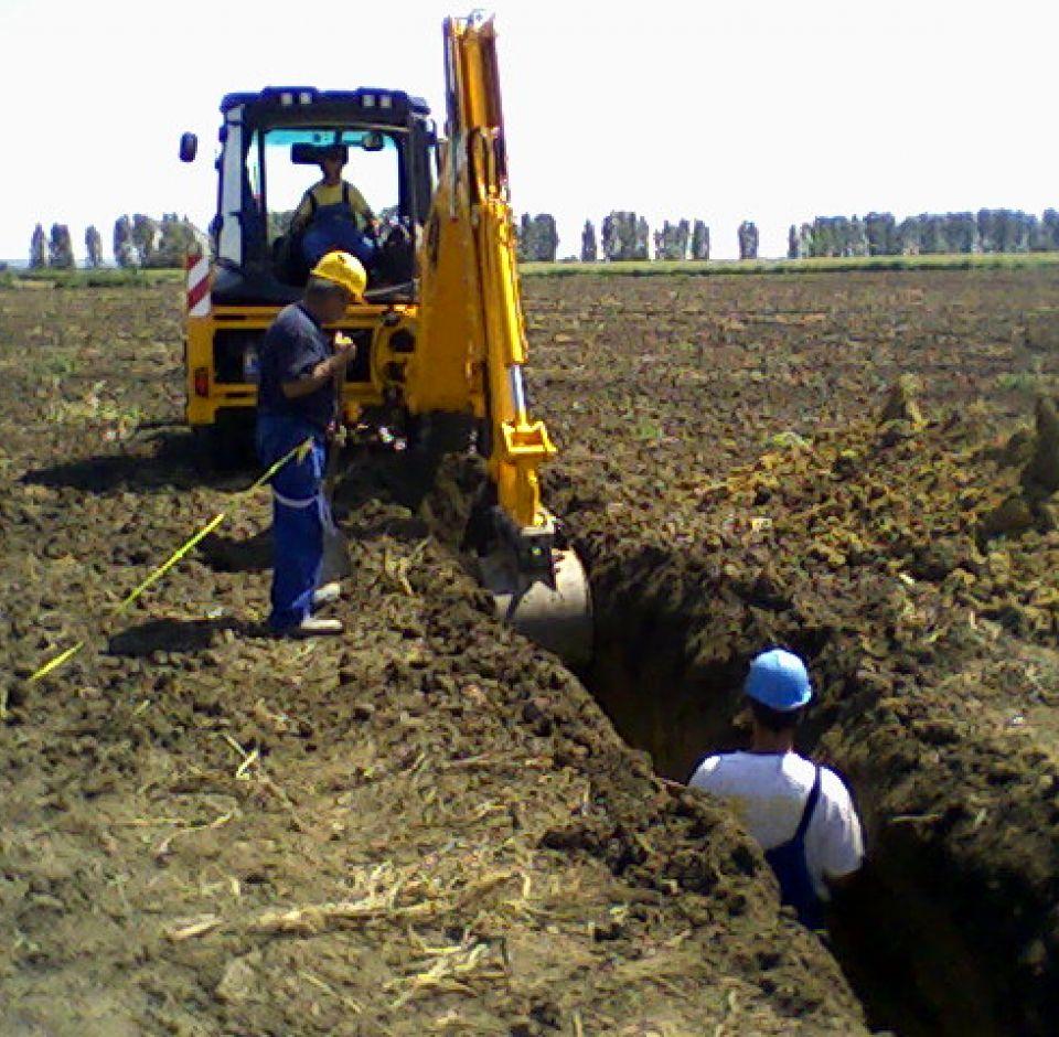 Királyegyháza - Gázvezeték rekonstrukció