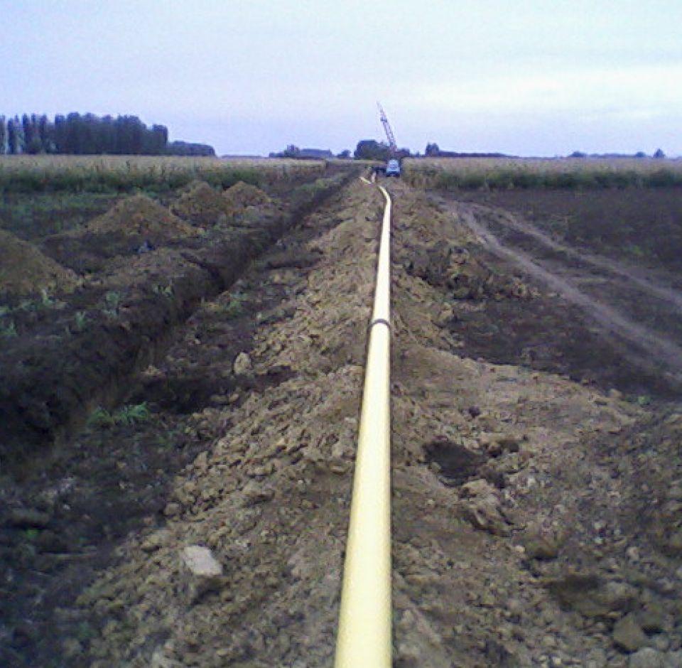 Pécsvárad-Maráza nagyközép nyomású gázelosztó vezeték építése